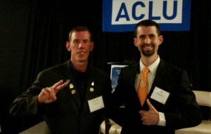 Darryl W Perry and Ian Freeman at the 2017 ACLU 1st Amendment Awards Dinner
