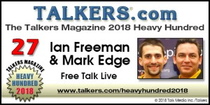"""Free Talk Live"" Moves up to #27 on the TALKERS ""Heavy Hundred"" for 2018!"