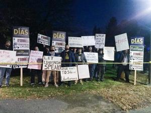 Libertarians Protest Unfair Debates Outside St. Anselm College
