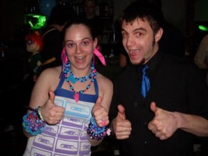 Julia and her brother, Luthor Miranda, at the only rave held in the last 15 years in New Hampshire - at the Laser Center in Hooksett