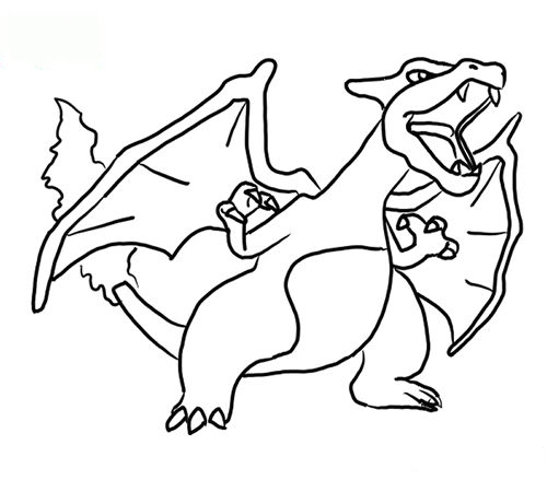 Print out Charizard Coloring book pageFree Printable