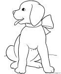 cut dog coloring pages of puppy