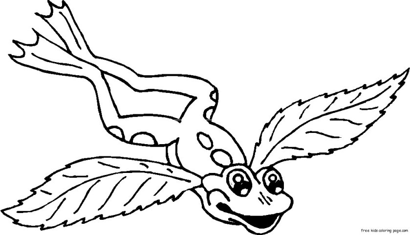 frog  angel wings tattoo coloring pages for kidsfree