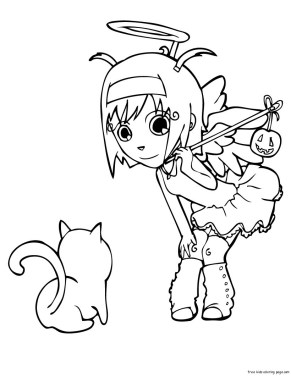 halloween angel coloring pages