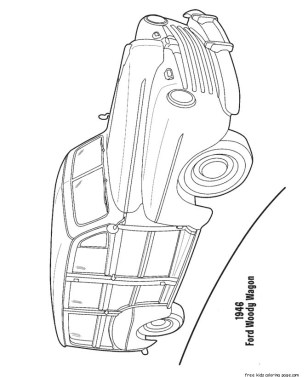 Print out Ford woody Wagon 1946 coloring pagesFree ...