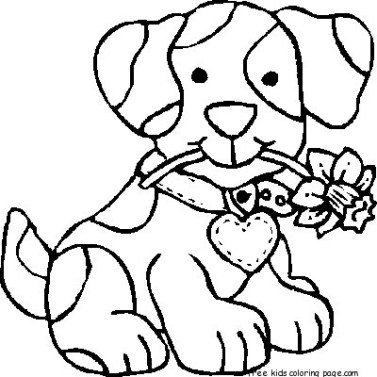 Print out Dog coloring pages
