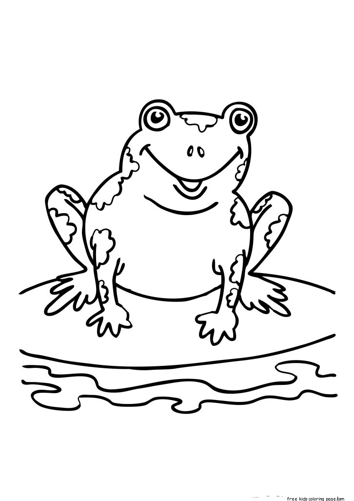 Printable Coloring Sheets Of Frogs For KidsFree Printable