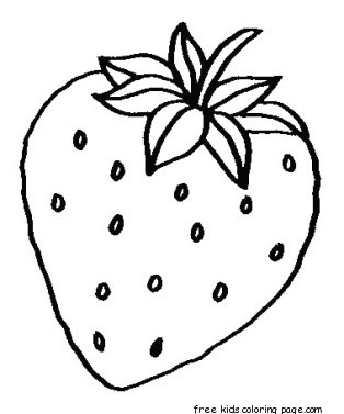 Print Out Fruits Strawberry Coloring Pages WorksheetsFree
