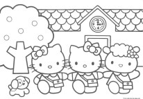 Hello Kitty Friends coloring pages printable for kids