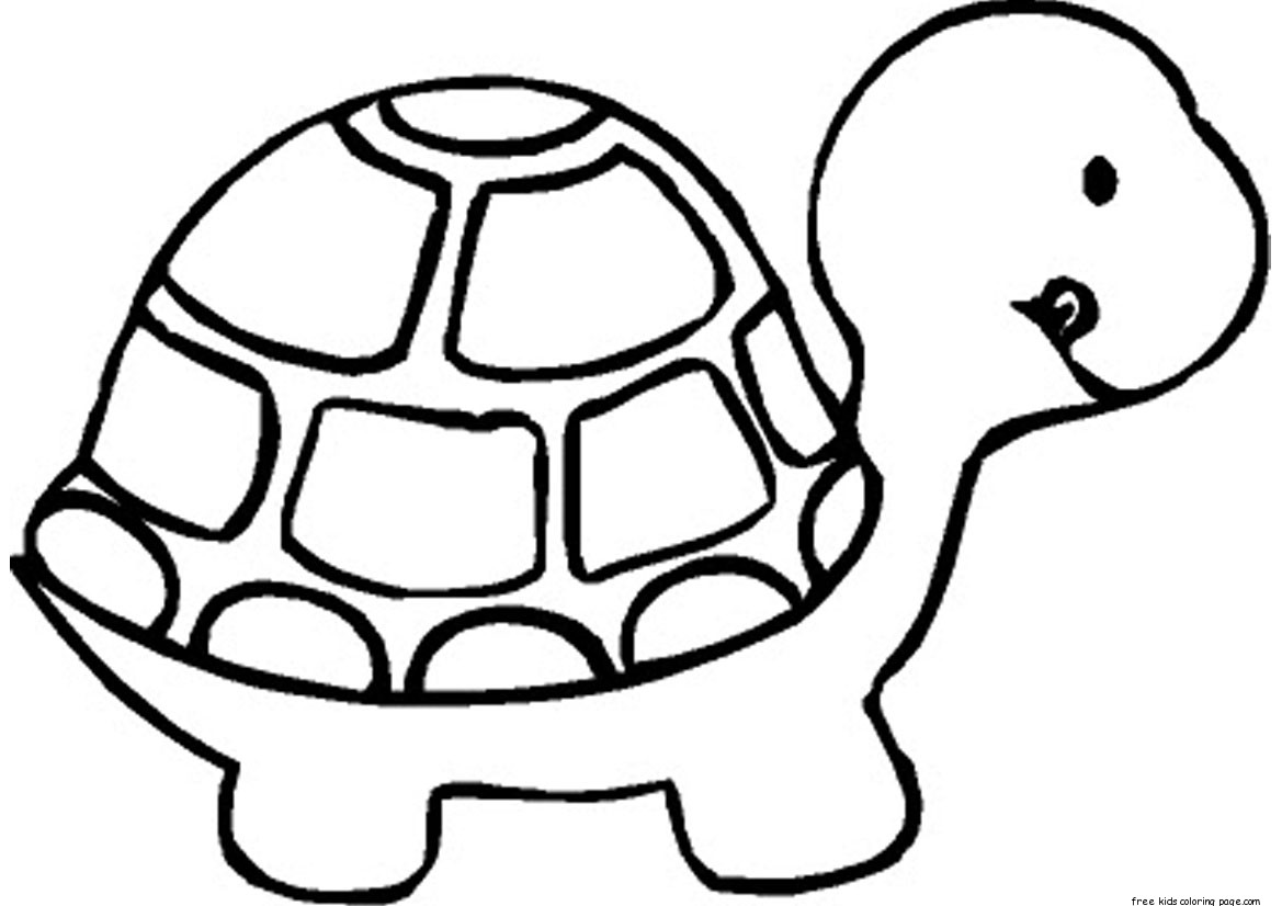 Print Out Baby Turtle Coloring Book Pages