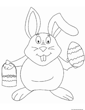 Printable coloring pages of easter eggs and bunnies to print