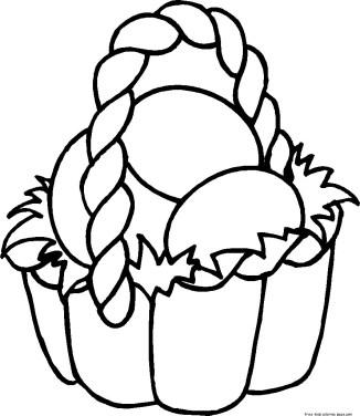 Easter basket coloring sheets free printable for kids
