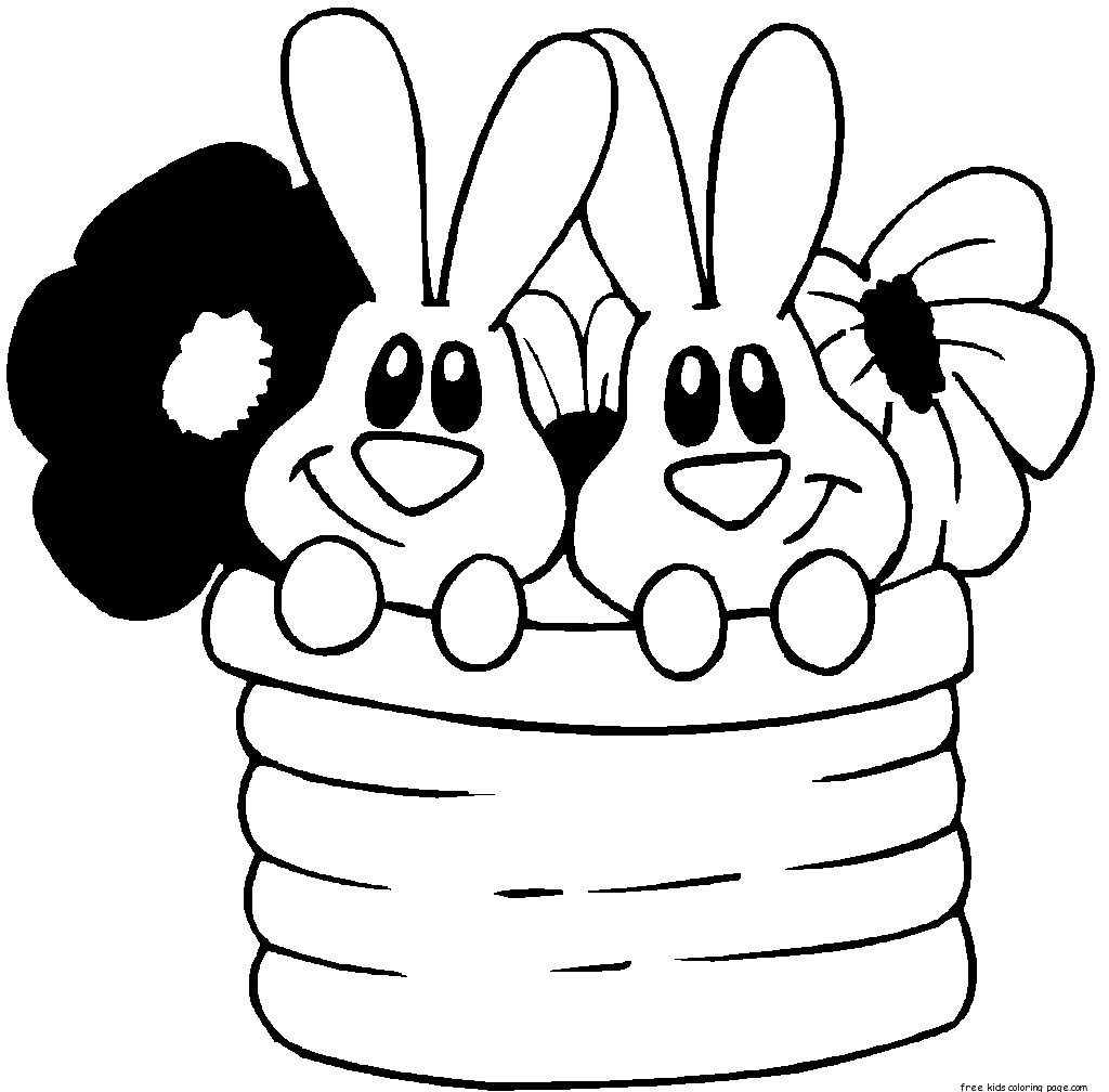 Printable Easter Bunny Colouring Pages Kidsfree Printable