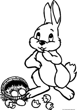 Picture to color easter bunny to print.