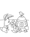 coloring pages cute easter chick for kids to print out