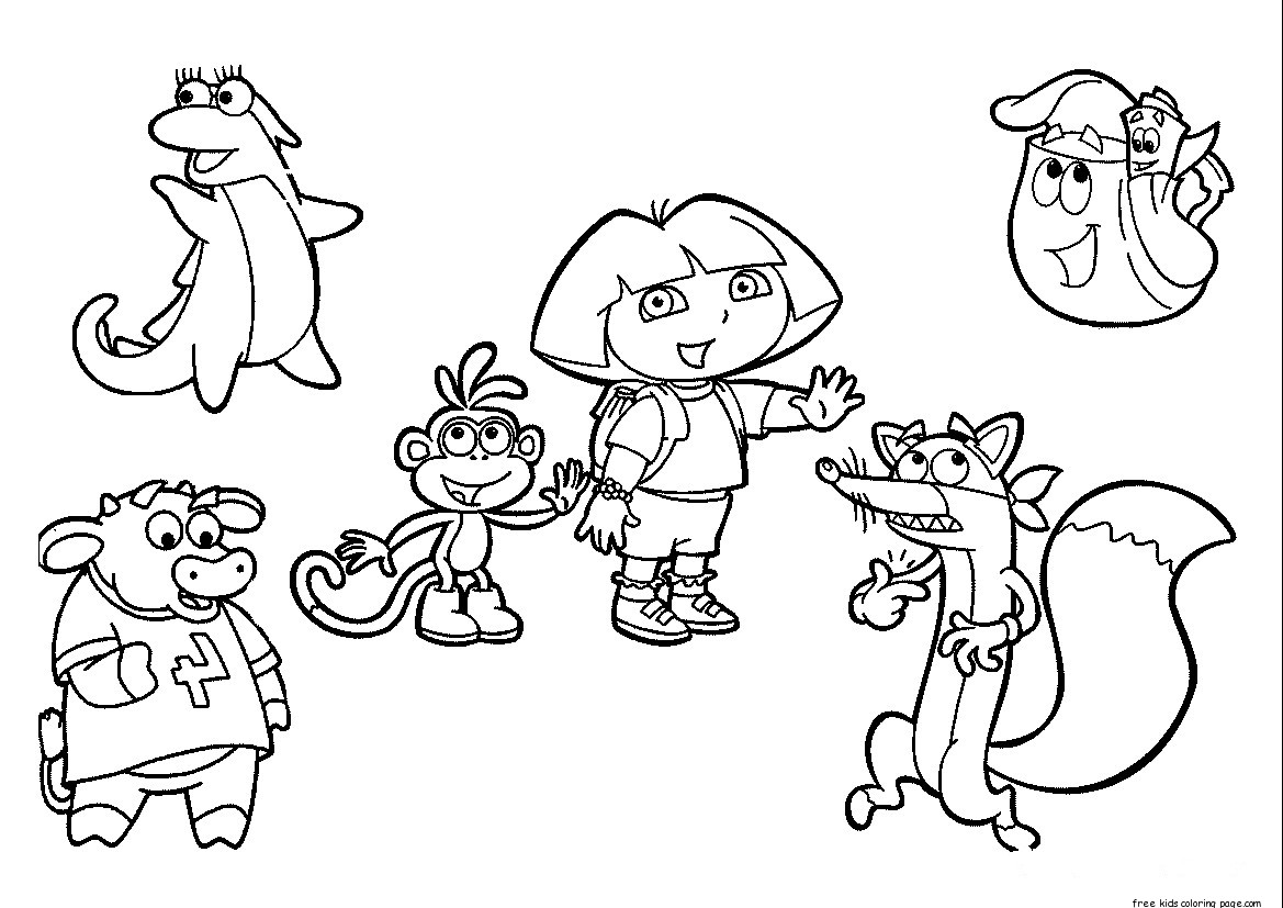Dora The Explorer Coloring Pages Free To Printfree Printable Coloring Pages For Kids