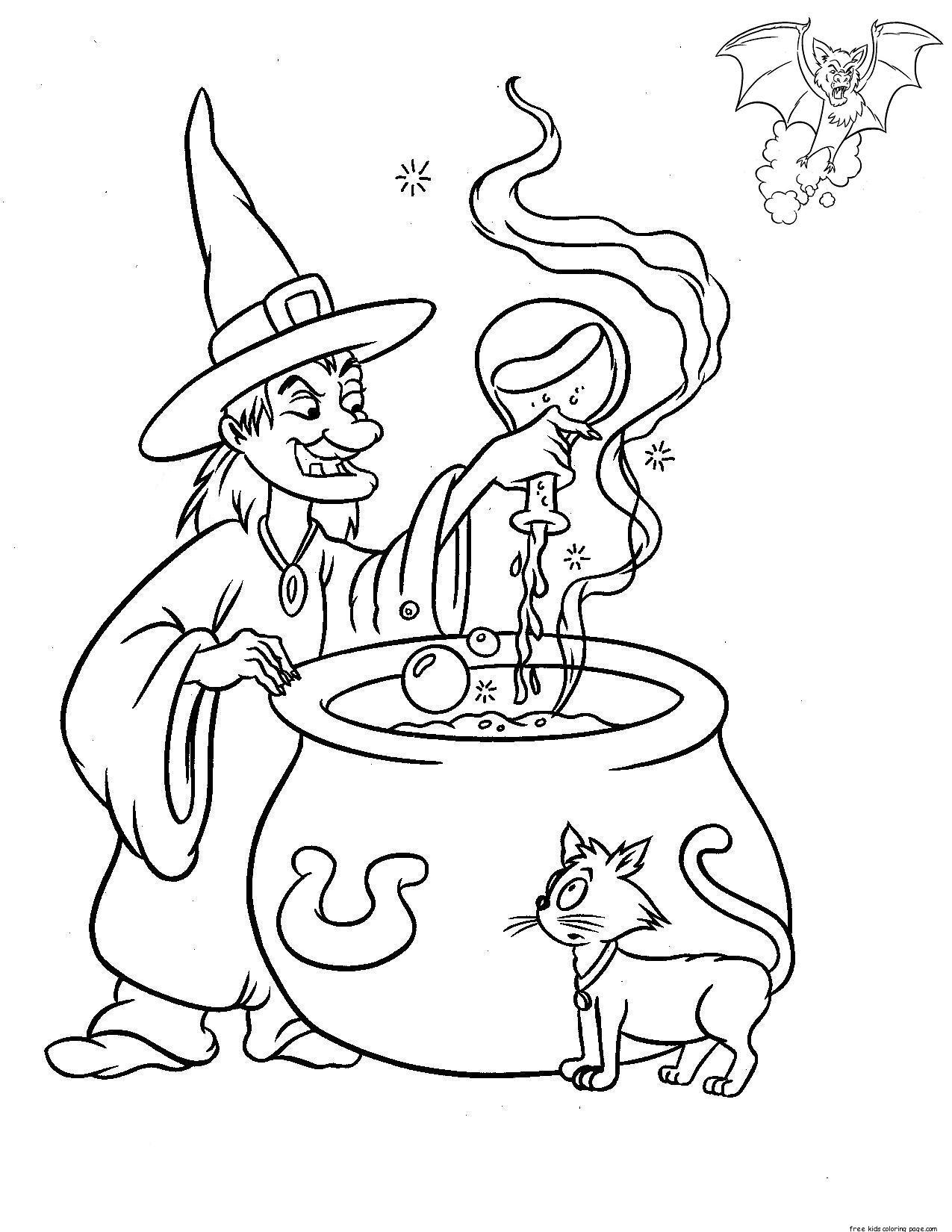 Printable Halloween Witches Make Magic Drinkfree Printable