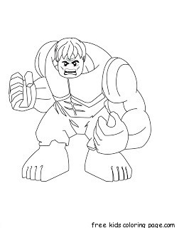 superhero hulk coloring pages for kids to print out