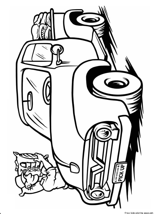 Monster Truck Coloring Book Pages For KidsFree Printable