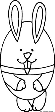 Coloring sheets easter bunny and eggs for kids to print out.