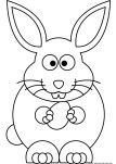 Easter pages to color bunny to print.