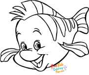 Printable the little mermaid flounder coloring pages