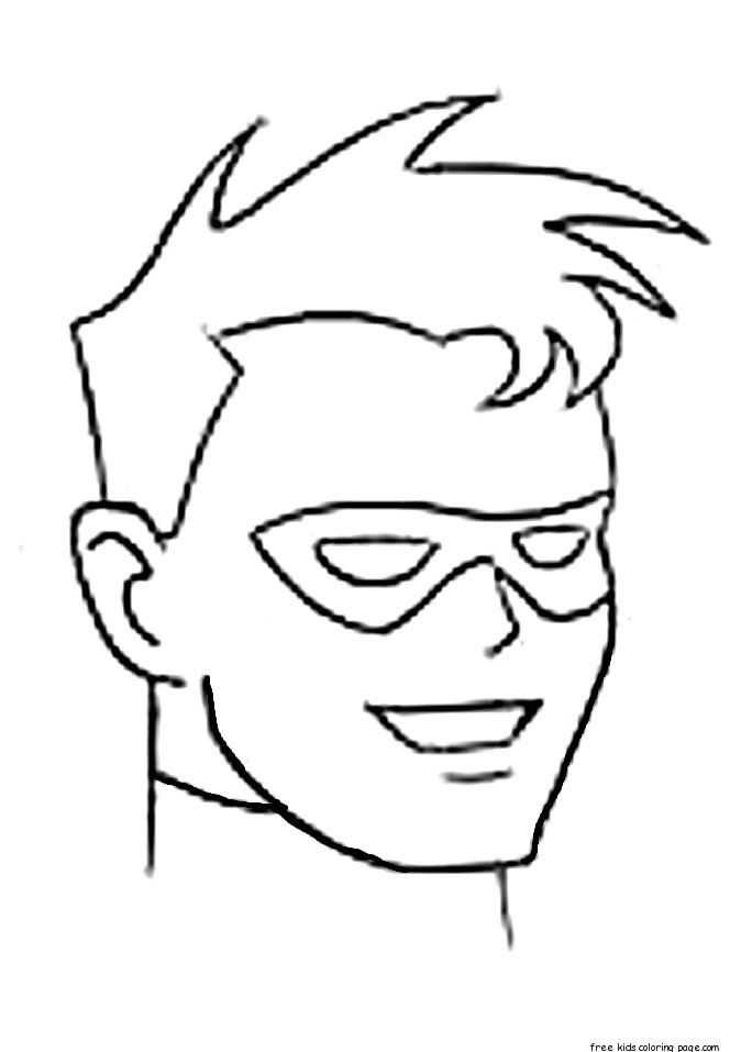 Printable Superhero Robin Coloring Pages For KidsFree