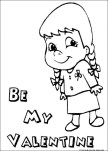 will you be my valentine girl coloring pages for kids.