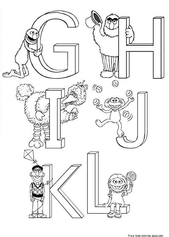 Print Out Sesame Street Alphabet Coloring Sheets For
