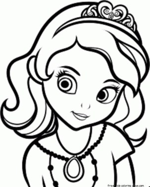Princess sofia colouring pages to print