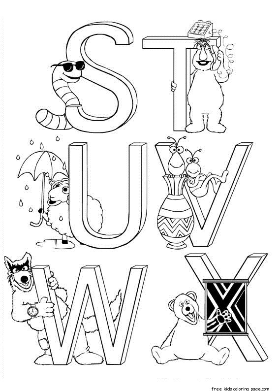 Free Sesame Street Alphabet Coloring Pages For KidsFree