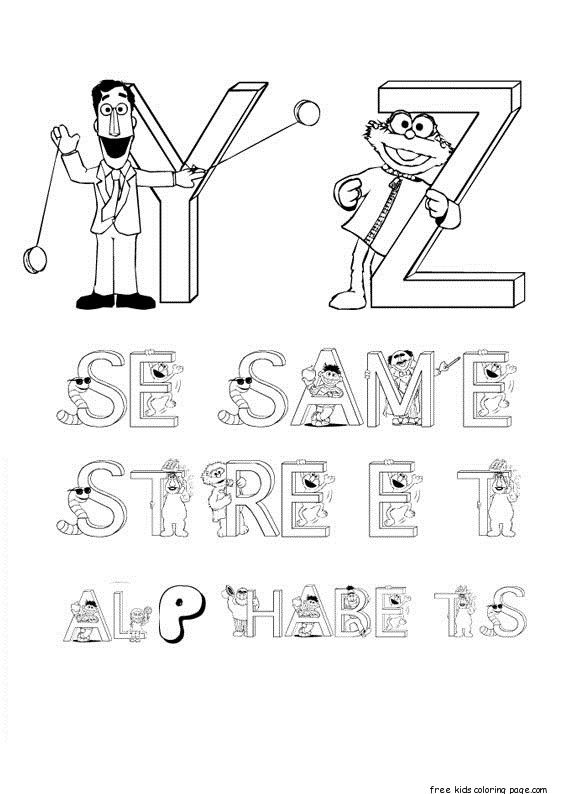 Free Sesame Street Alphabet Coloring Pages For