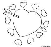 Valentine cupid coloring sheets for kids to print
