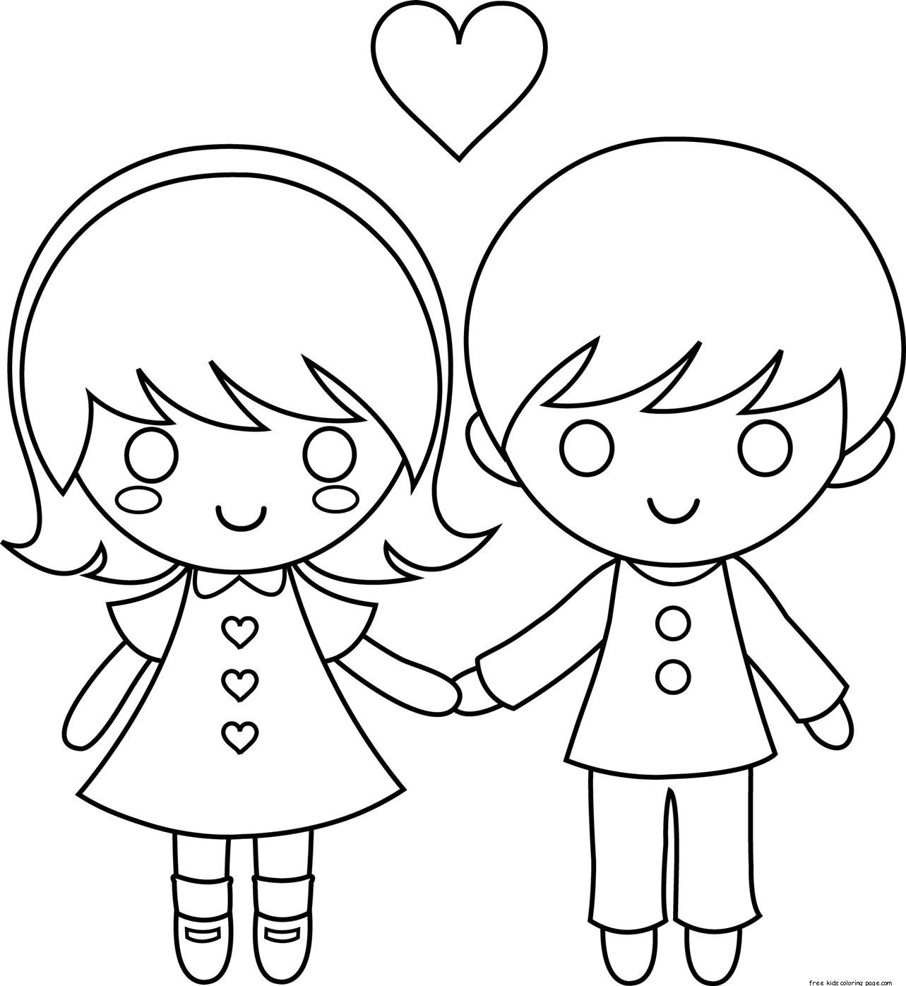 Printable Couple Valentine Day Coloring Pages For Kidsfree Printable Coloring Pages For Kids