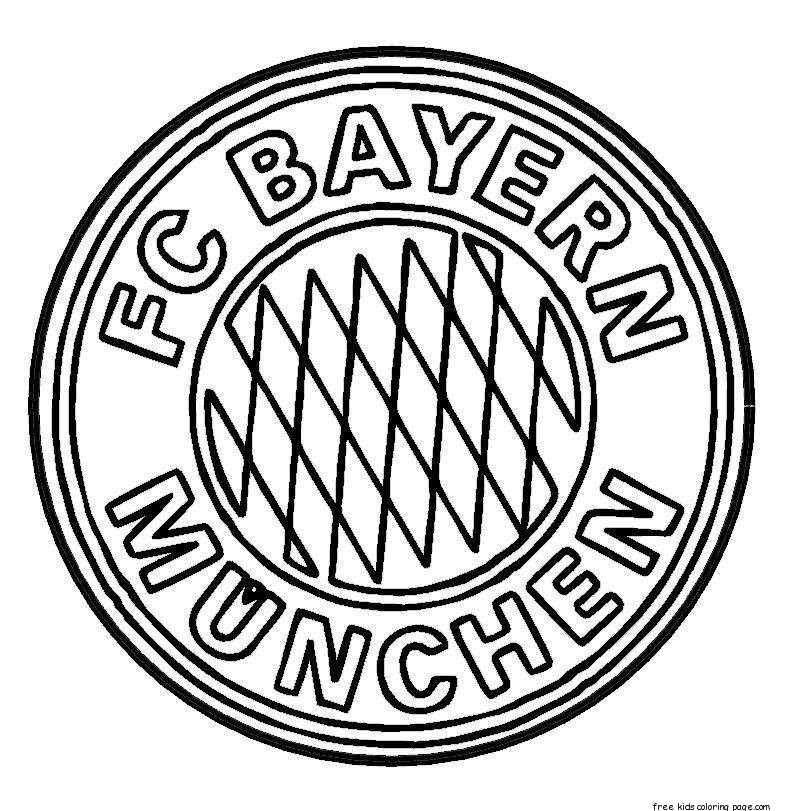 Bayern Munich Logo Soccer Coloring Pages Free Printable