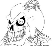 Printable Halloween Skull coloring pages