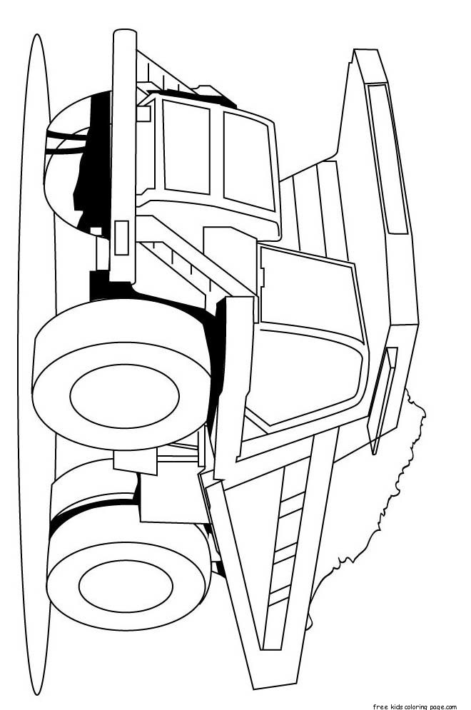 Print Out Peterbilt Semi Truck Coloring Pages For KidsFree
