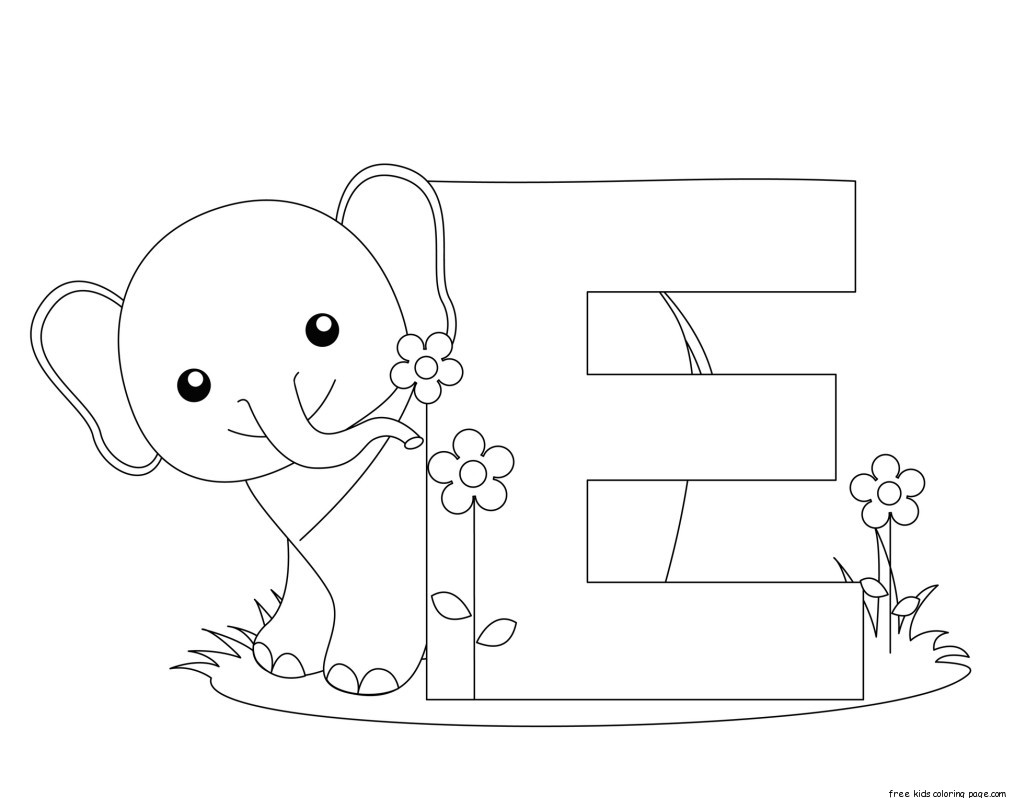 Printable Alphabet Letter E Activity Worksheet For Elephantfree Printable Coloring Pages For Kids
