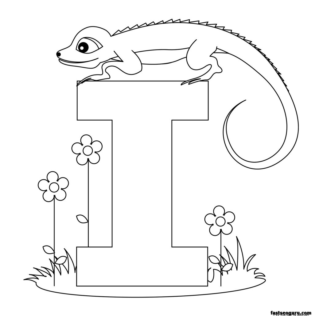 Printable Alphabet Worksheets Letter I For Iguana For Kidsfree Printable Coloring Pages For Kids
