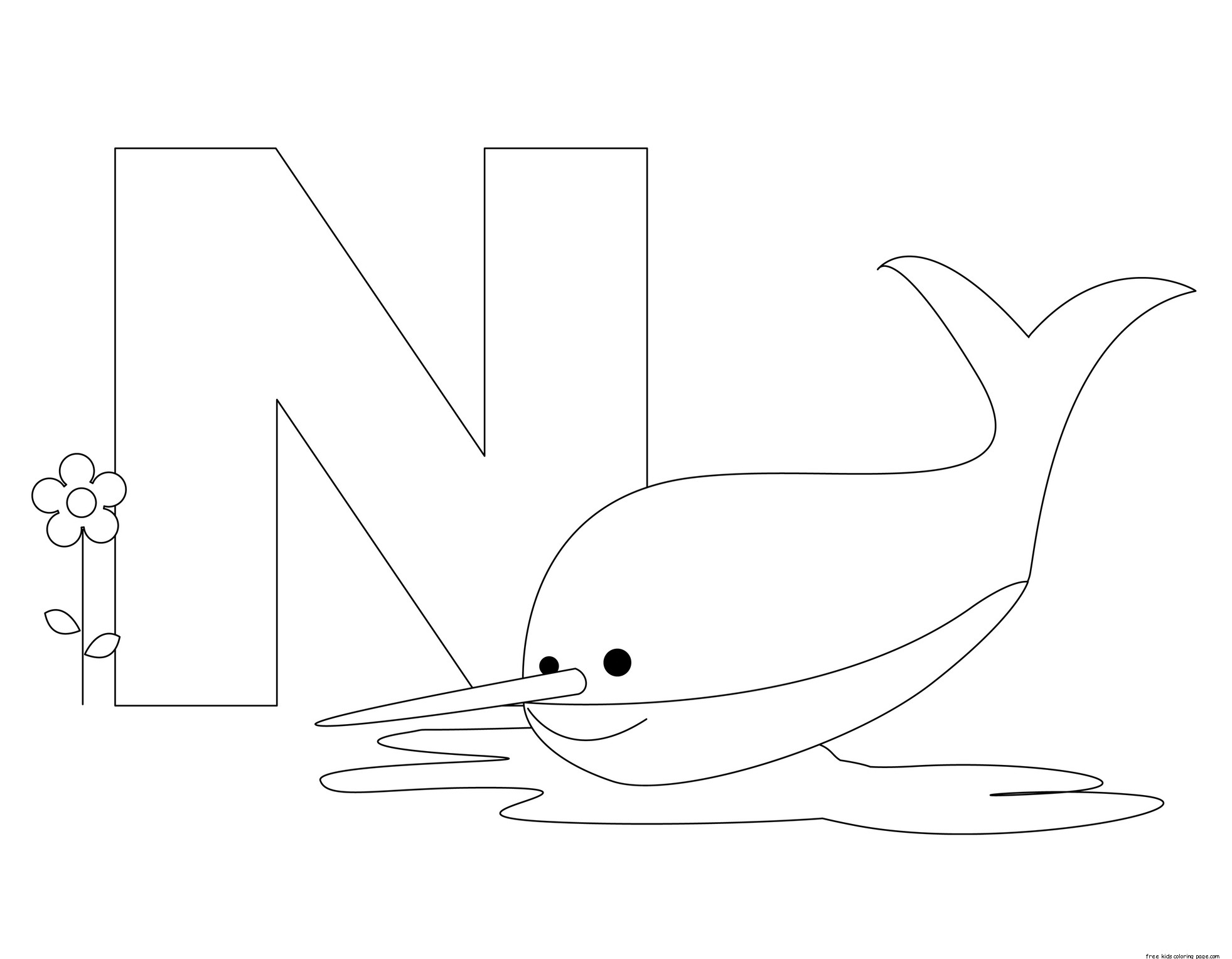Printable Animal Alphabet Letter N Is For Nurse Shark