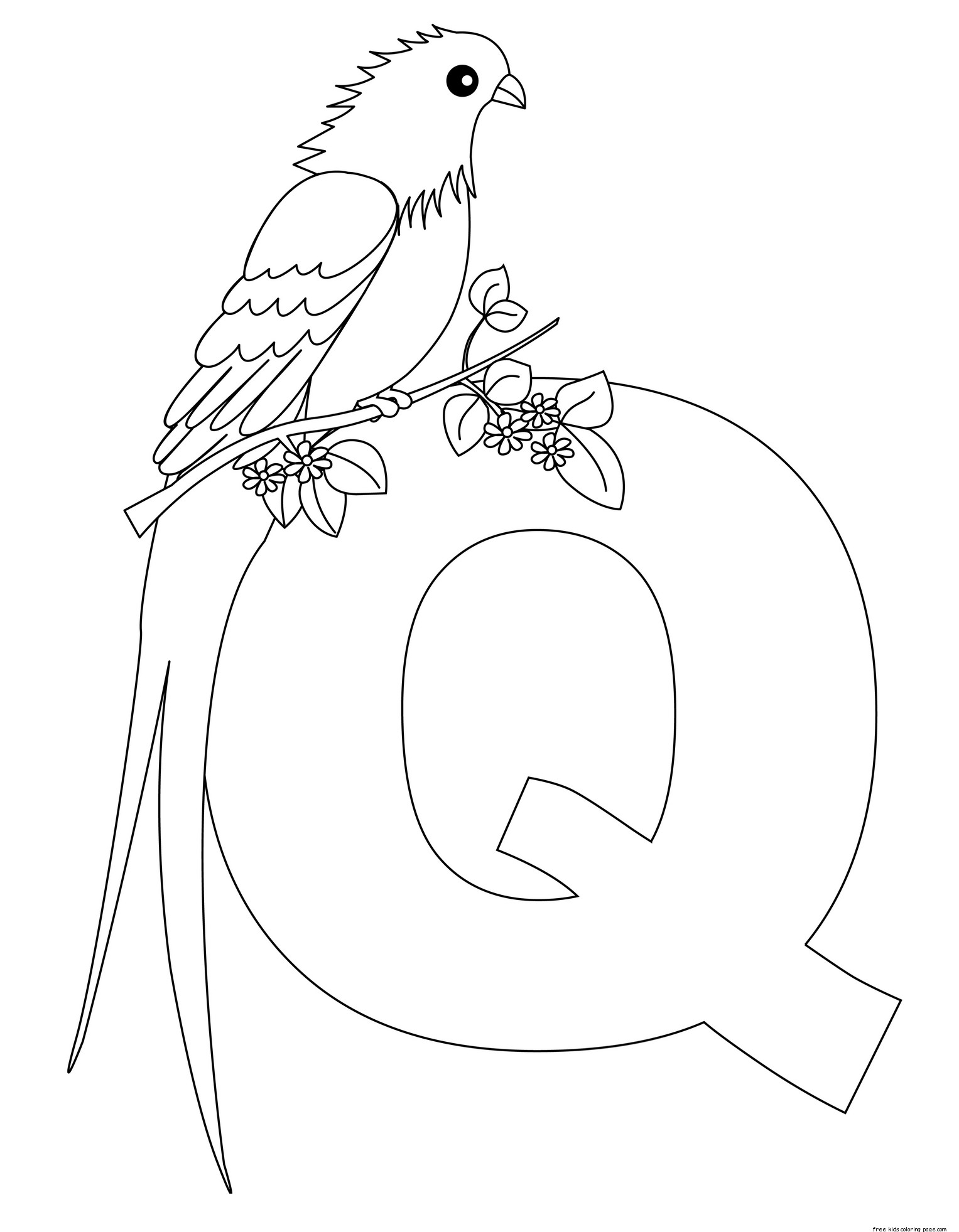 Printable Alphabet Letters For Preschoolers Letter Qfree Printable Coloring Pages For Kids