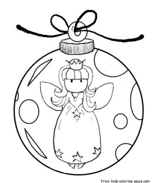 Angel christmas tree decorations coloring pages