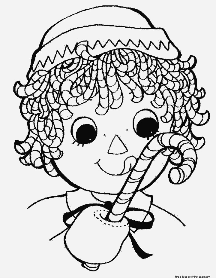 Print Out Christmas Candy Canes Coloring Pages For