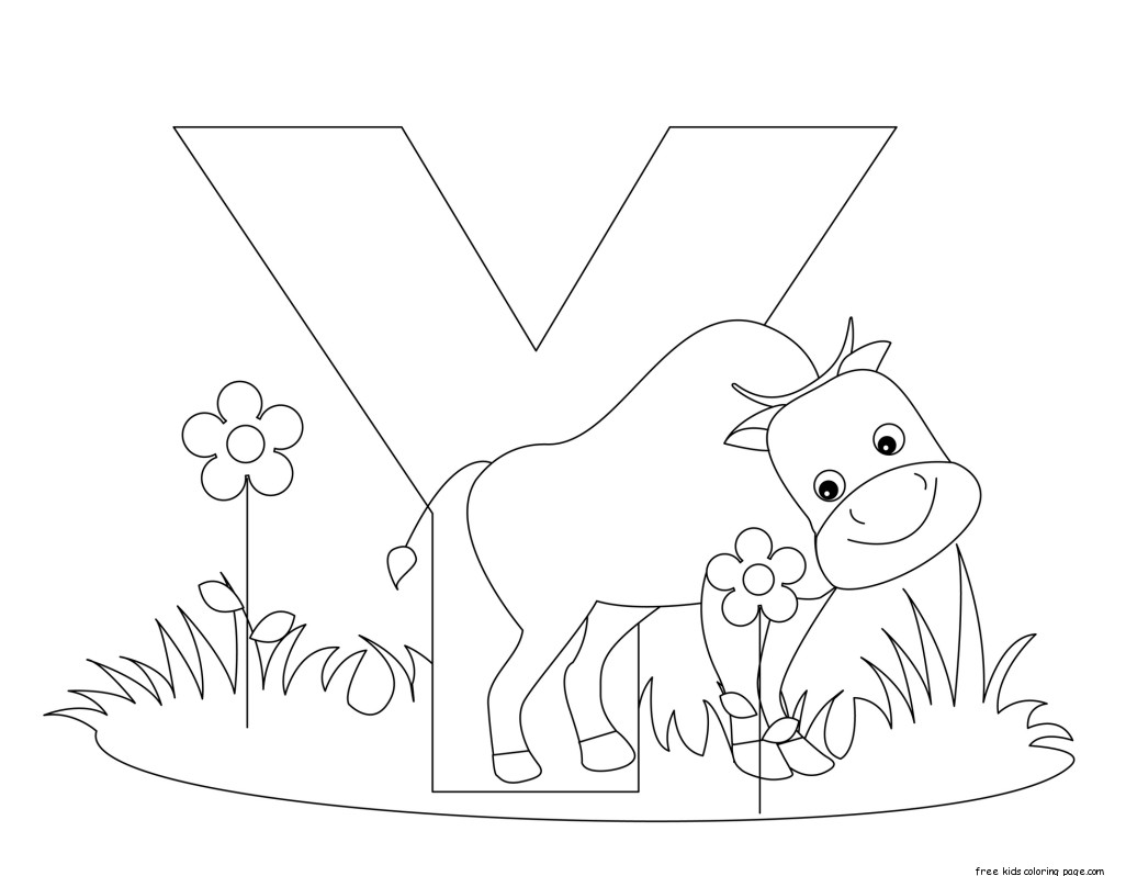 Printable Letter Y Alphabet Worksheets For Preschoolfree Printable Coloring Pages For Kids