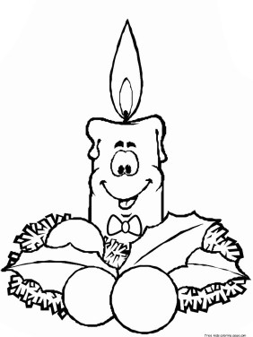 Coloring pages christmas candles to print out