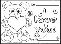 Free Valentines day coloring in sheets to print out for kids.