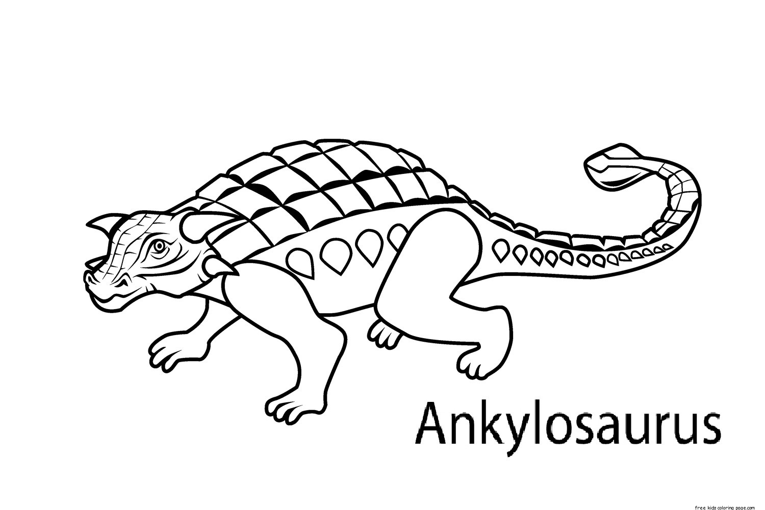 Printable Dinosaur Coloring Pages Ankylosaurus For Kidsfree