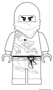 lego Ninjago printable coloring sheets for kids.