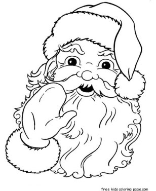 Santa Claus Face cola coloring pages