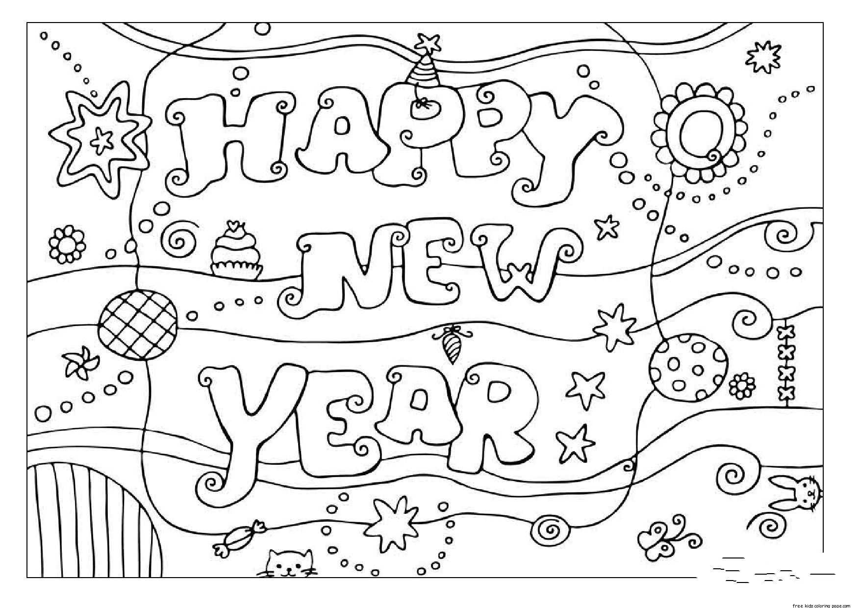 Printable Coloring Pages Happy New Year Free Printable Coloring Pages For Kids